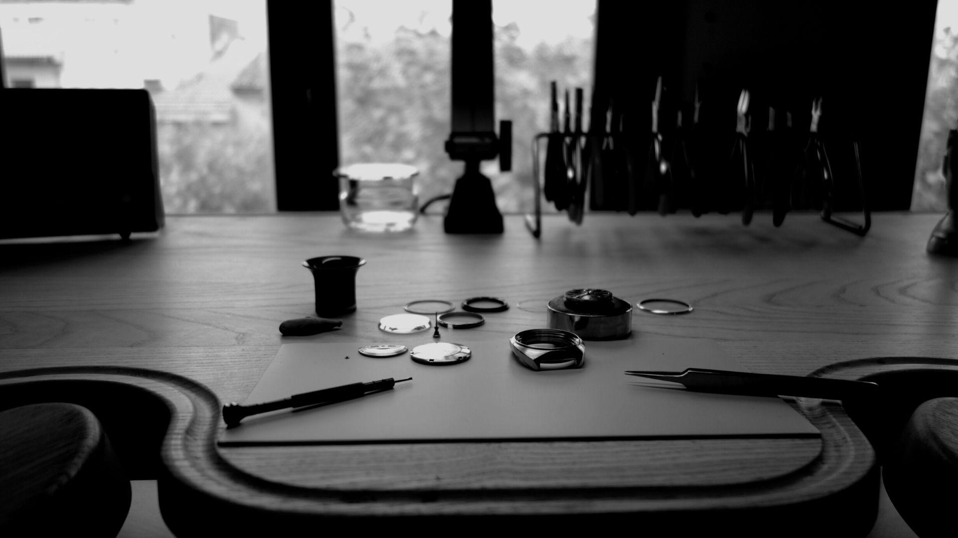mesa de relojero